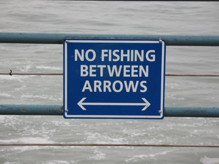 No Fishing Between Arrows